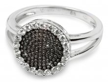 Silver Cat Stříbrný prsten s krystaly SC142 52 mm