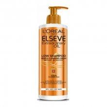 Loreal Paris Pečující mycí krém na vlasy Elseve Extraordinary Oil (Low Shampoo Gentle Cleansing Cream) 400 ml