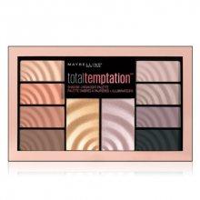 Maybelline Total Temptation paleta očních stínů a rozjasňovačů 12 g