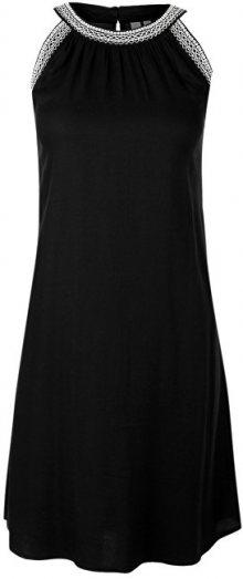 Q/S designed by Dámské černé krepované šaty 38