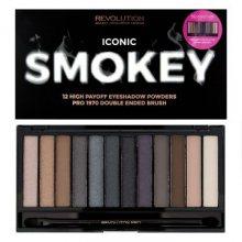 Makeup Revolution Paletka očních stínu Iconic Smokey (Eye Shadow Palette) 19 g