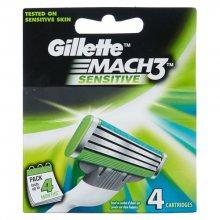 Gillette Náhradní hlavice Mach3 Sensitive 4 ks