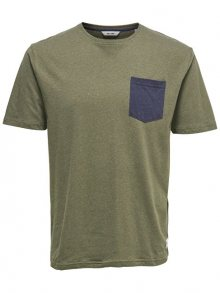 ONLY&SONS Pánské triko Granger Pocket TEE Grape Leaf S