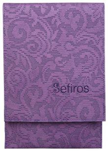 Sefiros luxusní pouzdro na kosmetické štětce fialové
