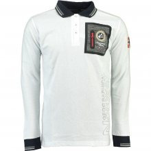 Geographical Norway Pánské polo tričko KITOR LS MEN 100_White\n					\n