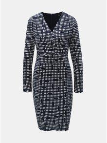 Tmavě modré puntíkované šaty s překládaným výstřihem Smashed Lemon