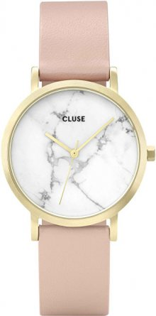 Cluse La Roche Petite Gold White Marble/Nude CL40103