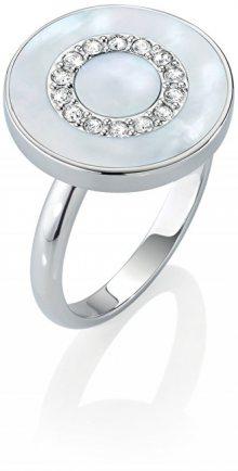 Morellato Stříbrný prsten s perletí a krystaly Perfetta SALX09 52 mm