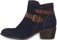 Tamaris Elegantní dámské kotníkové boty 1-1-25010-21-833 Navy/Espresso 39