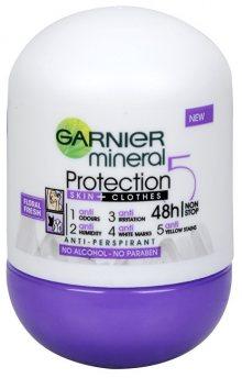 Garnier Minerální antiperspirant 5 Protection Floral Fresh 48h Roll-on pro ženy 50 ml