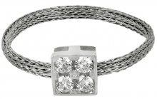 Brilio Silver Stříbrný pletený prsten 421 063 00002 04 - 0,89 g 55 mm