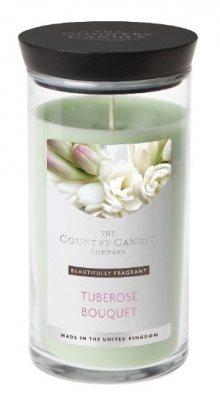 Country Candle Vonná svíčka ve skleněné dóze Kytice nočních hyacintů (Tuberose Bouquet) 630 g