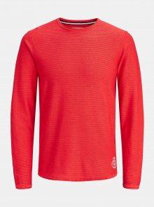 Červený lehký svetr Jack & Jones Laundry