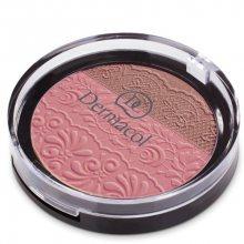 Dermacol DUO tvářenka s reliéfem krajky (Duo Blusher) 8,5 g č.1
