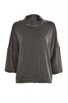 Deha Dámský svetr Velour Swing Sweatshirt B64512 Walnut Brown S