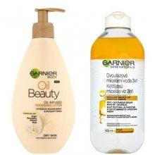 Garnier Oil Beauty tělové mléko 250 ml + micelární voda 400 ml