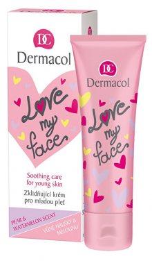 Dermacol Zklidňující a sjednocující krém pro mladou pleť s vůní hrušky a melounu Love My Face (Soothing Cream) 50 ml