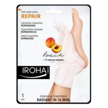 Iroha Regenerační maska na nohy a nehty sbroskvovým sérem (Repair Foot Mask Socks Peach) 2 x 9 ml