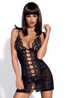 Erotická košilka Bride chemise black