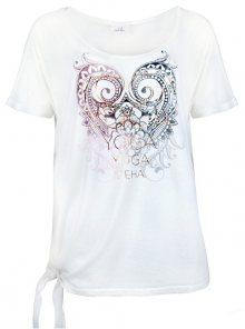Deha Dámské triko Knotted T-Shirt B84533 Snow White M