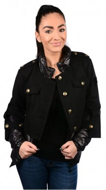 Fornarina Dámská bunda Slot - Black Jacket BI183F26N30600 S