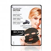 Iroha Látková maska sdřevěným uhlím a kyselinou hyaluronovou (Detox Black Tissue Mask Charcoal) 23 ml