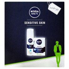 Nivea Men Sensitive pro muže voda po holení 100 ml + gel na holení 200 ml dárková sada