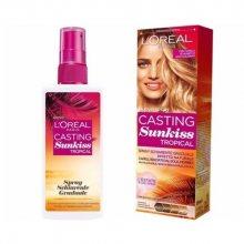 Loreal Paris Postupně zesvětlující sprej pro tmavě hnědé až blond vlasy (Casting Sunkiss Tropical) 125 ml