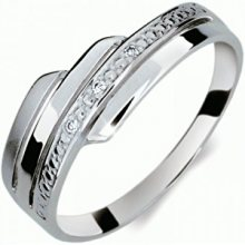 Danfil Krásný prsten s diamanty DF1844b 51 mm