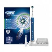 Oral B Elektrický zubní kartáček Pro 4000 + 2 hlavice (1 Cross Action, 1 Sensitive)
