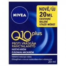 Nivea Noční krém proti vráskám Q10 Plus mini 20 ml