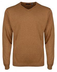 ONLY&SONS Pánský svetr Alex 12 Detail V-Neck Knit Chai Tea S