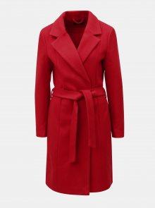 Červený kabát na zavazování ONLY