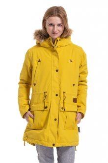 Meatfly Dámská bunda Rainy 3 Parka Yellow L