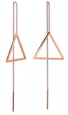 Troli Dlouhé bronzové náušnice s trojúhelníky