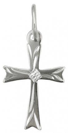 Brilio Zlatý přívěsek křížek s rytím 242 001 00013 07 - 0,25 g