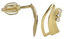 Brilio Zlaté náušnice s krystaly 239 001 00569 - 1,55 g