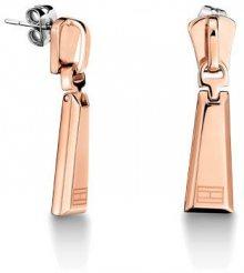 Tommy Hilfiger Pozlacené ocelové náušnice ve tvaru zipu TH2700725