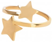 Troli Pozlacený ocelový prsten s hvězdičkami
