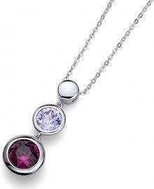 Oliver Weber Náhrdelník s fialovými krystaly Working Every 11674 204