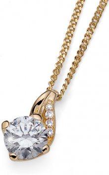 Oliver Weber Stříbrný náhrdelník Succes 61139G (řetízek, přívěsek)