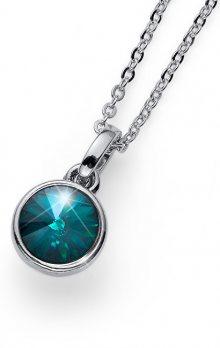 Oliver Weber Stylový náhrdelník se zeleným krystalem Young 11924 205