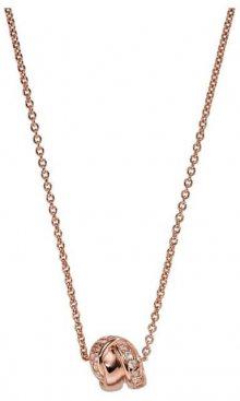 Emporio Armani Luxusní bronzový náhrdelník EG3320221 (řetízek, přívěsek)