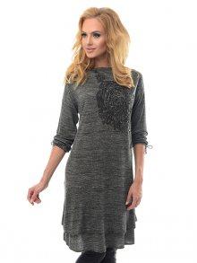 Alekssandra Dámské šaty 2394/A_dark grey\n\n