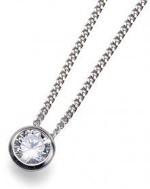 Oliver Weber Stříbrný náhrdelník Solitaire 61118 (řetízek, přívěsek)
