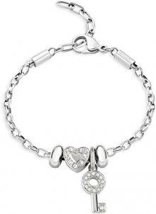 Morellato Ocelový náramek Drops Heart and Key SCZ677