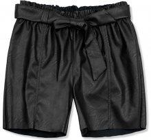 Černé koženkové šortky