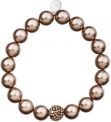 Evolution Group perlový náramek hnědý 33074.3