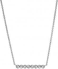 Fossil Ocelový náhrdelník s krystaly JF02589040
