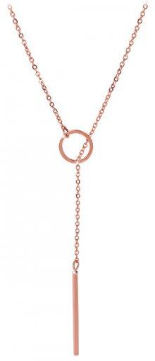 Troli Stylový růžově pozlacený náhrdelník 1970